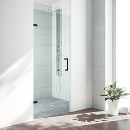 VIGO SoHo 30 to 30.5-in. Adjustable Frameless Shower Door wi