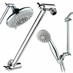 """Hotel Spa 11"""" Solid Brass Adjustable Shower Extension Arm wi"""