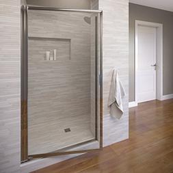 Basco Sopora 31.125- 32.875 in. Width, Pivot Shower Door, Aq