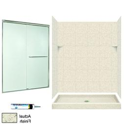 Swanstone SQP3460050-M58570NR Square Tile Alcove Shower Kit