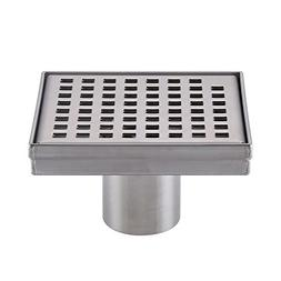 KES Square Shower Floor Drain with Removable Grate Strainer