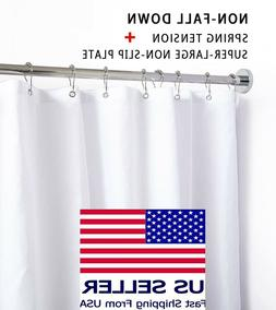 Briofox Stainless Shower Curtain Rod 42-72 Inches No Rust No