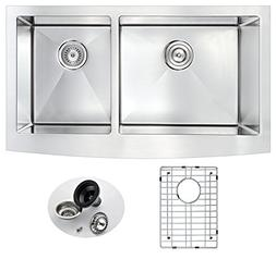 "36"" Stainless Steel Farmhouse Kitchen Sink - Brushed Satin -"