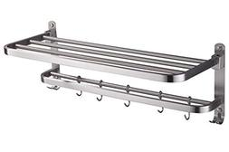ELLO&ALLO Stainless Steel Rack Shelf for Bathroom, Double To