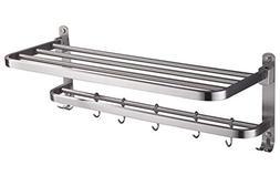 ELLO&ALLO Stainless Steel Rack Shelf for Bathroom, Double To