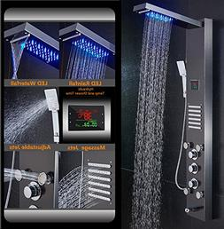 ELLO&ALLO Stainless Steel Rainfall Waterfall Shower Panel To