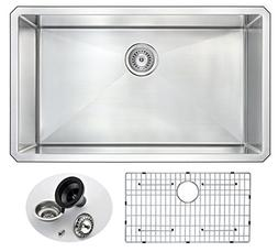 "32"" Stainless Steel Undermount Kitchen Sink - Brushed Satin"