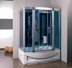 Steam Shower Room With deep Whirlpool Tub.BLUETOOTH.USA Warr