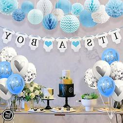 Sweet Baby Co. Baby Shower Decorations For Boy With It's A B