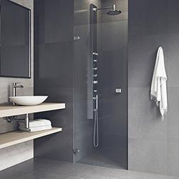 Tempo 70 x 27 Adjustable Frameless Shower Door with Clear Gl