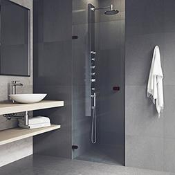 Tempo 71 x 22 Adjustable Frameless Shower Door with Clear Gl