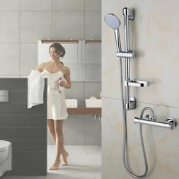 Thermostatic Bathroom Shower Set Faucets Combo Slide Valve B