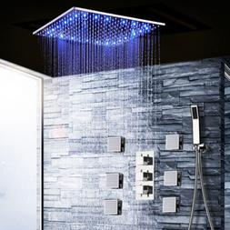 Thermostatic Shower Faucet Rainfall With Massage Body System