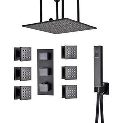 Rozin Thermostatic 3-way Shower Faucet Set Ceiling Mounted 2