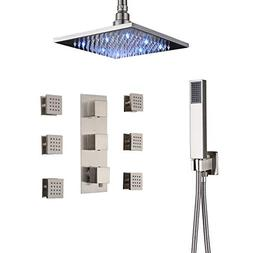 Rozin Thermostatic 3-way Shower Mixer Valve Ceiling Mounted
