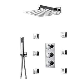 LightInTheBox 12Inch Thermostatic Wall Mount Shower Faucet T
