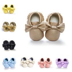 Toddler Shoes Anti-Slip Prewalker New Bow Tassel Soft Bottom