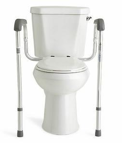 Medline Toilet Safety Rails, Safety Frame for Toilet with Ea