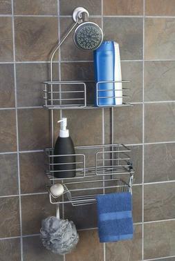 Ultra Chrome Steel Bathtub Shower Caddy Deep Shelves Soap Di