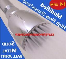 Original Modified HIGH FLOW SHOWER HEAD > 14 GPM Soft High P