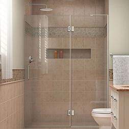 DreamLine Unidoor-X 50 in. W x 72 in. H Frameless Hinged Sho