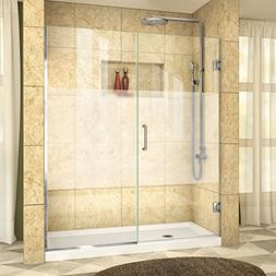 "DreamLine Unidoor Plus 58 to 58-1/2""W x 72"" H Hinged Shower"