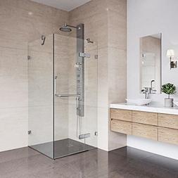 VIGO Monteray 36 x 36-in. Frameless Shower Enclosure with .3