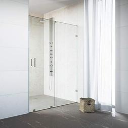 VIGO VG6045STCL5073 Ryland 48-50 Frameless Shower Door Stain
