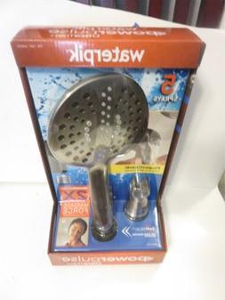 w14) Waterpik Power Pulse Ultra Thin+ Shower Head 5 Sprays P
