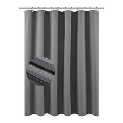 Waffle Weave Fabric Shower Curtain – Spa, Hotel Luxury, He