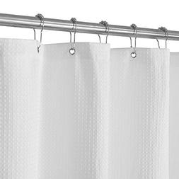 Waffle Weave Fabric Shower Curtain – Spa, Hotel Luxury, He