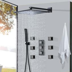 Wall Mounted Oil Rubbed Bronze Shower Faucet Rainfall Shower