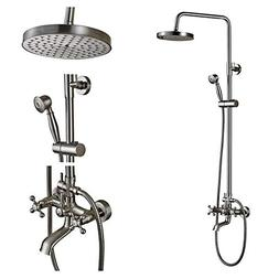 Rozin Wall Mounted Top Rainfall Shower Set Tub Faucet with H