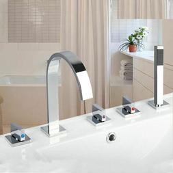 Waterfall Bathtub Faucets Tap Mixer Hand Showers Set Bathroo