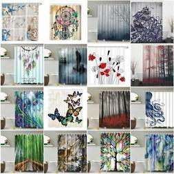 Waterproof FabricBathroom Shower Curtain  Nature Scenery Pan