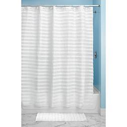 InterDesign White Tuxedo Shower Curtain