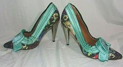 Wild and Stylin LANVIN FOR H & M Floral Print Pump Blue Ribb