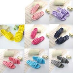 Women Men Bathroom Anti-slip Sandals Slide Slippers Summer H