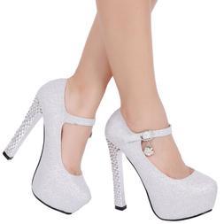 Women Platform Strappy High Heels Wedding Shoes Sandals Brid