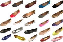 Women's MicroSuede & PU Leather  Ballerina Ballet  Flat Shoe