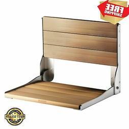 Wood Folding Shower Seat Moen Teak, Aluminum Frame