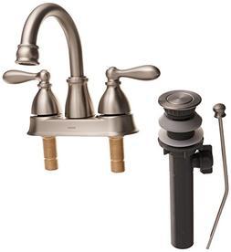 Moen WS84667SRN Caldwell Two-Handle Bathroom Faucet High Arc