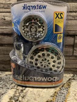 Waterpik XET-633-643 High Pressure PowerPulse 2-in-1 Dual Sh